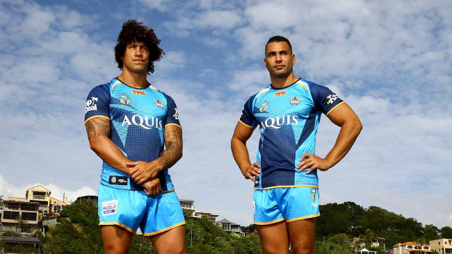 Kevin Proctor and Ryan James were named co-captains of the Titans last year. Picture: David Clark
