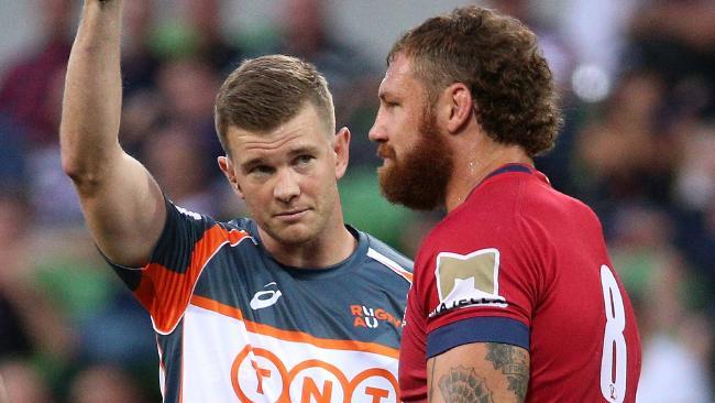 Scott Higginbotham will miss three games after making contact with Rebels lock Matt Philip's head.