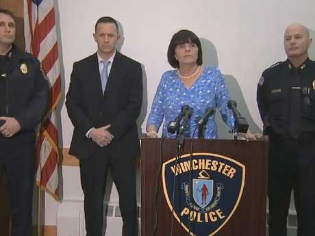 Middlesex District Attorney Marian Ryan gives her statement about the murder. Picture: Boston 25 News