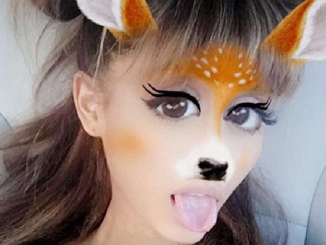 Ariana Grande's a fan. Picture: Snapchat