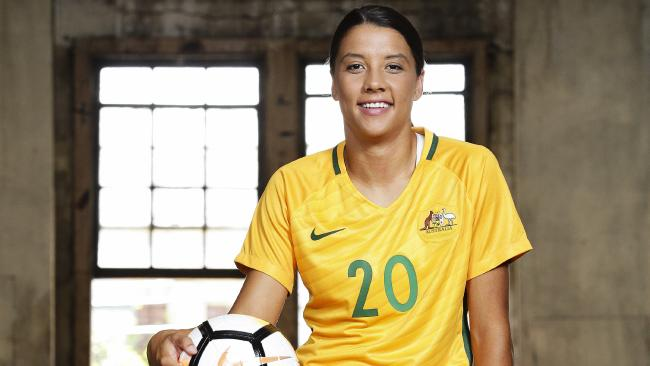 Sam Kerr says the 2023 World Cup could be her swangsong. Picture: Justin Lloyd.