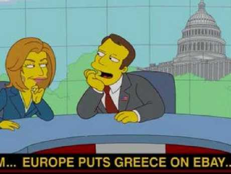 The Simpsons predict Greece's recession.