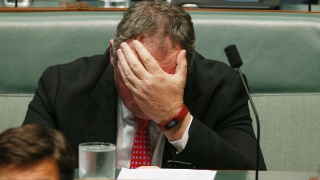 Barnaby Joyce on the backbench for Question Time in the House of Representatives today. Picture: Gary Ramage