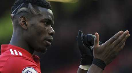 Manchester United's Paul Pogba applauds