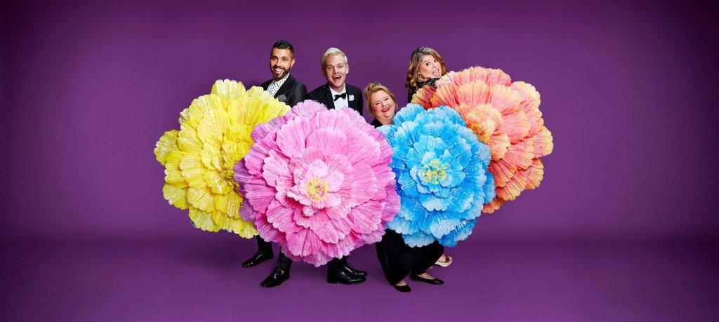Patrick Abboud, Joel Creasey, Magda Szubanski and Urzila Carlson hosts SBS's coverage of the 40th annual Sydney Gay and Lesbian Mardi Gras.
