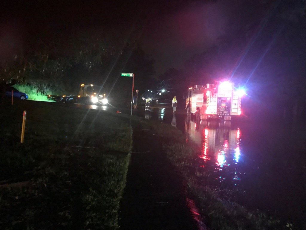 Swift water rescue crews were called to multiple incidents on Monday night.