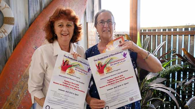 BIG DAY: Zonta's Le-Anne Allan and Jennifer Spence have been planning the International Women's Day breakfast.