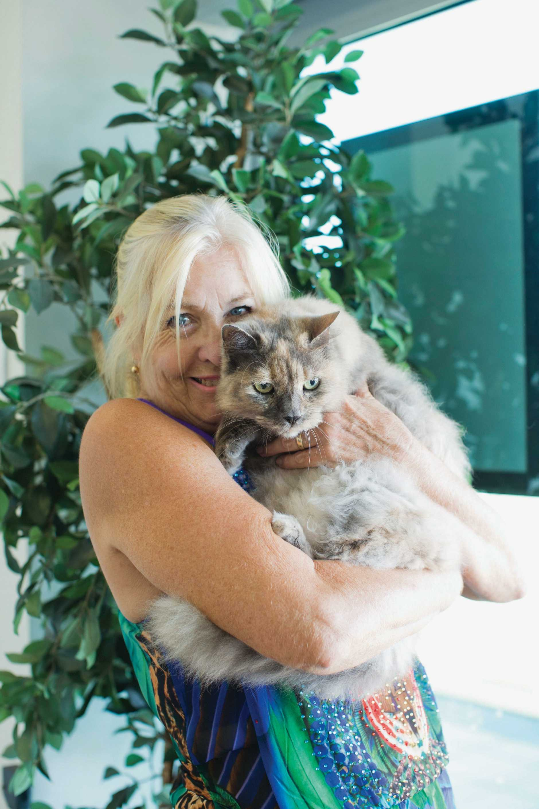 Pam Price and her cat Misty