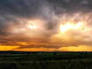 'Sunset storm over Rosewood'