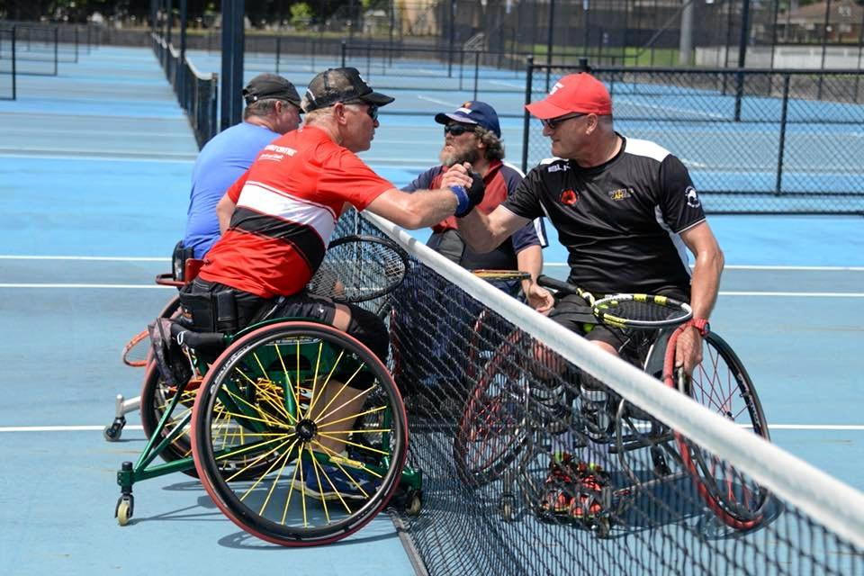Action from the Grafton City Tennis CLub's second annual Wheelchair Tennis Tournament.