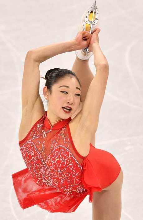 USA's Mirai Nagasu completed a triple axel at PyeongChang 2018.