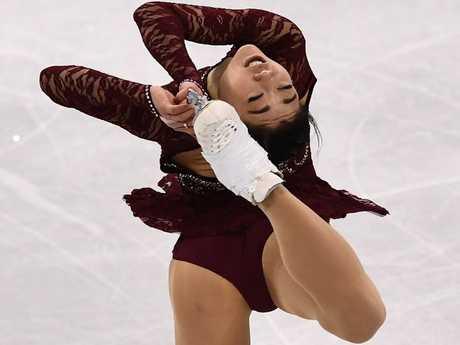 USA's Mirai Nagasu competes in the short program.