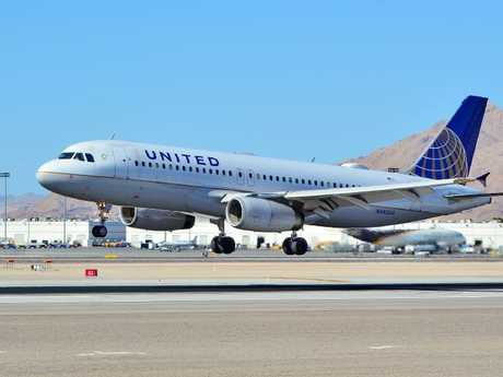 A United Airlines plane. Picture: Tomas del Coro