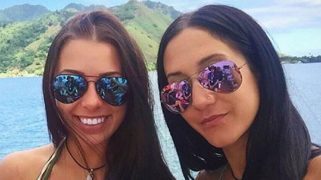 Mélina Roberge and Isabelle Lagace on their world cruise before they were arrested in Sydney on cocaine smuggling charges.