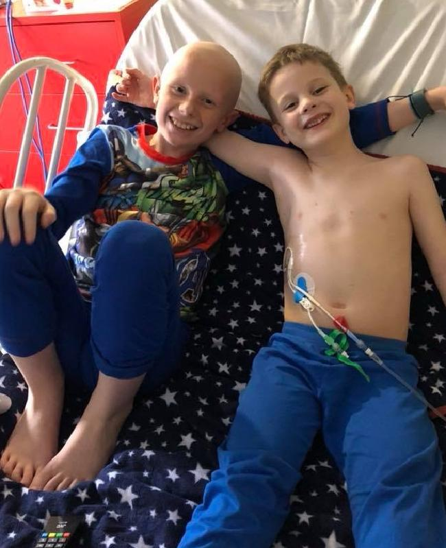 The brothers are sharing a hospital room and help each other through the gruelling treatment.