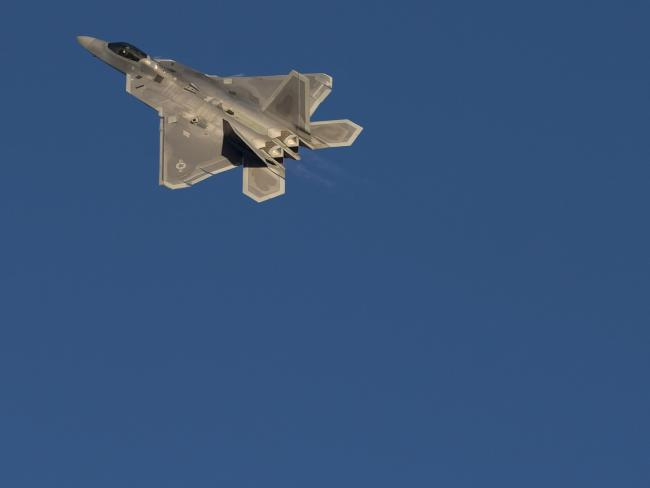 A US Air Force Lockheed Martin F-22 Raptor stealth fighter. Picture: AFP