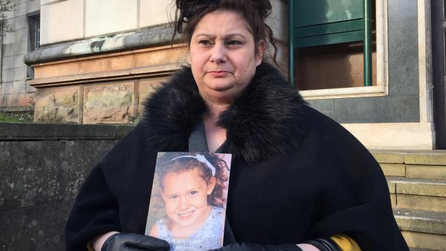 Brandi Clark, the grandmother of five-year-old Ellie-May Clark, outside Newport Coroner's Court. Picture: Claire Hayhurst/PA Wire