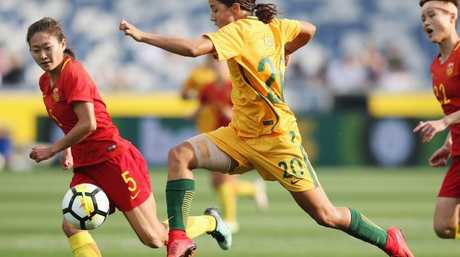 Sam Kerr. (Photo by Michael Dodge/Getty Images)