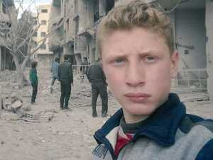Teen's message to world in war selfies