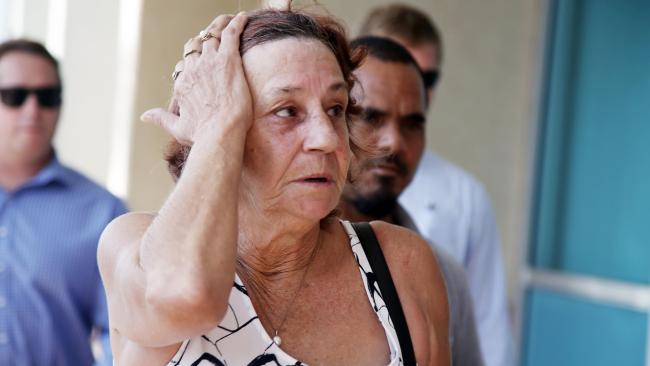 Kerry Johnson leave the Cairns court house after watching Graeme Evans plead guilty to her daughter Leeann Lapham's manslaughter. PHOTO: TONI CALDWELL