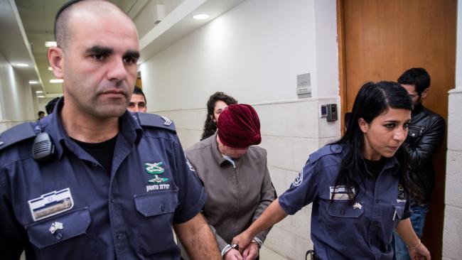 A Melbourne teacher in court in Jerusalem. Picture: Supplied