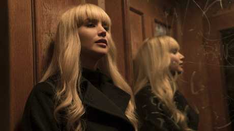 Jennifer Lawrence in a scene from the movie Red Sparrow.