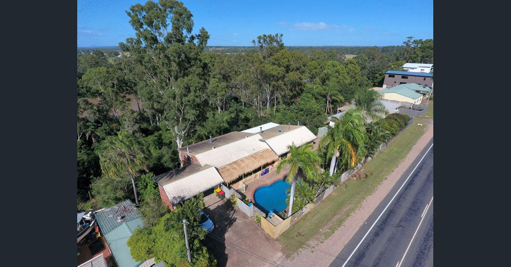 This stunning home in Maryborough West also has a gorgeous view of the Mary River.