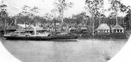 The Granville Sawmill on the Granville Flats in 1869.