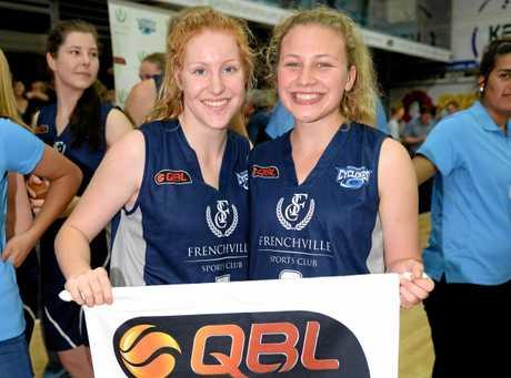 Cyclones Briana Bailey and Anna Dyer. Photo Allan Reinikka / The Morning Bulletin