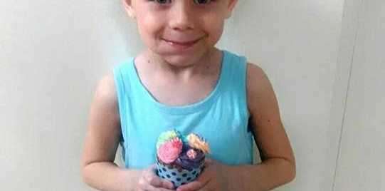 GOOD NEWS: Little Havana McGregor, 5, was diagnosed with a rare, aggressive form of cancer. But the family has been told the tumour is now 'non-enhancing'.