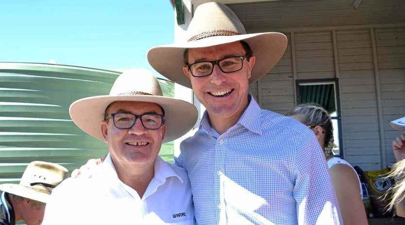 TRAVELLER: Member for Maranoa David Littleproud (right) has racked up the second highest chartered travel expenses in Queensland.