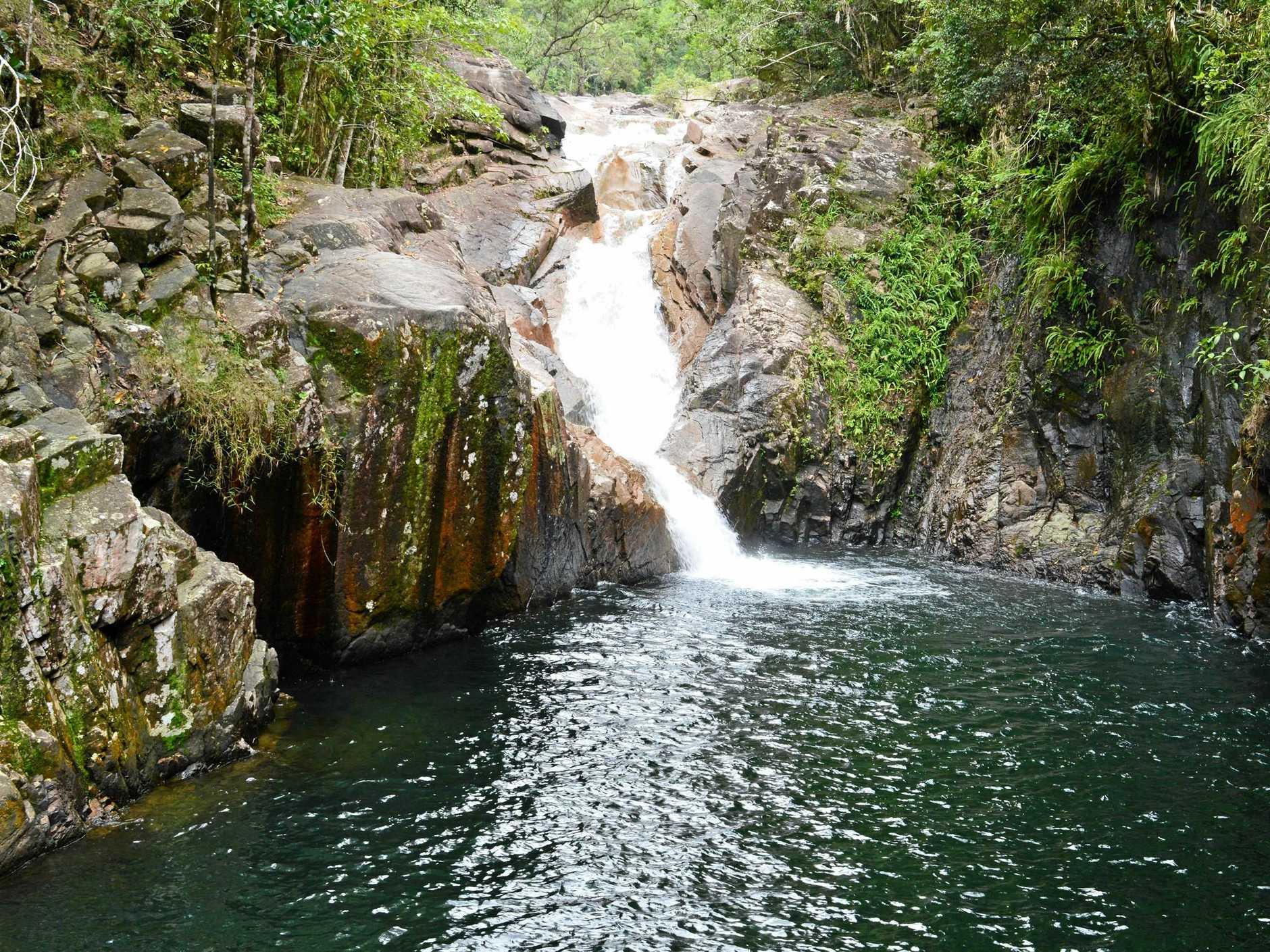 Araluen Falls, a popular swimming hole at Finch Hatton Gorge.
