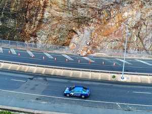 WATCH: Huge boulder crashes onto busy CQ road in landslide