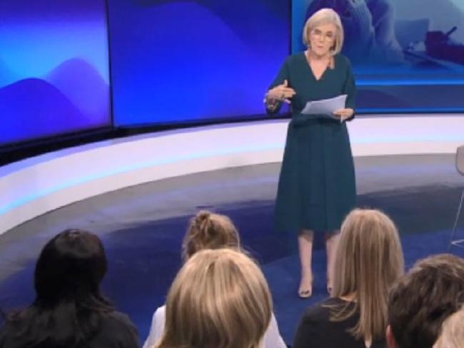 Amy's mum Sandy, far left, appeared on Insight on SBS on Tuesday.