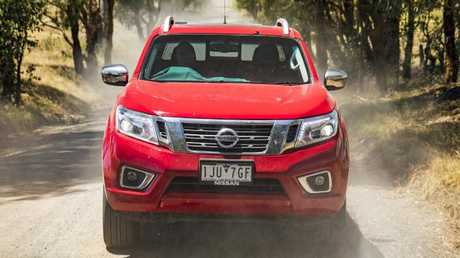 Unique conditions: The Navara on the road Down Under. Pic: Supplied.