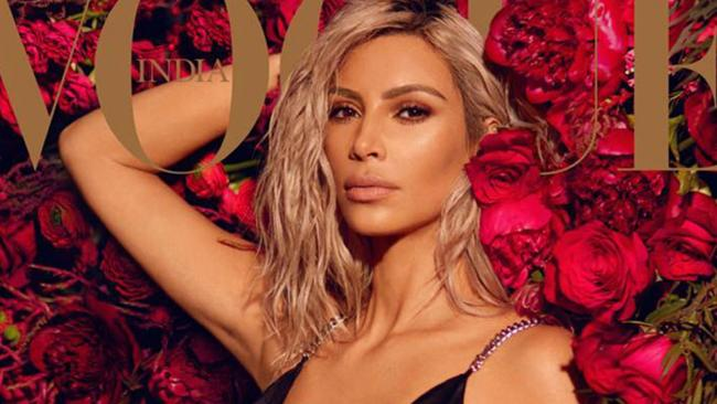 Kim Kardashian on the cover of Vogue India's March issue. Picture: Vogue India