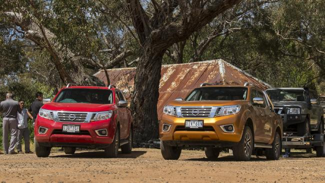 The 2018 Nissan Navara undergoing testing in Australia. Pic: Supplied.