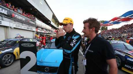 Scott McLaughlin after finishing second in spectacular style for Volvo in 2014. Picture: Tait Schmaal.