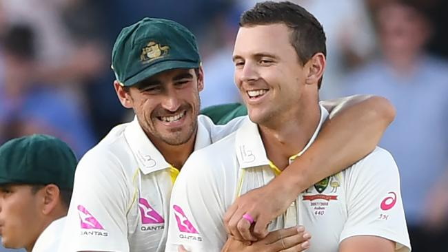 Mitchell Starc and Josh Hazlewood will have to work overtime for wickets in Durban.