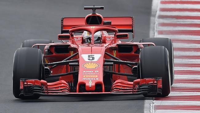 Sebastian Vettel made the pace around the Circuit de Catalunya.