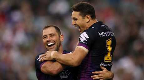 Queensland heroes Cameron Smith and Billy Slater will be central to the Storm's flag hopes. (Mark Kolbe/Getty Images)