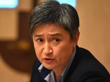 "Senator Penny Wong described Senator Cash's comments as ""a disgraceful slur"". Picture: Mick Tsikas / AAP"