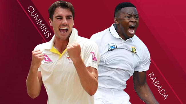 Two of the world's most exciting fast bowlers, Pat Cummins and Kagiso Rabada.