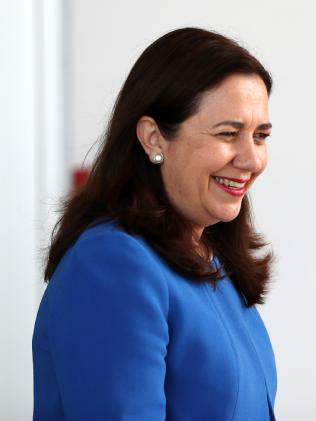 Queensland Premier Annastacia Palaszczuk is in the US looking for potential movies to be filmed in the Sunshine State. Picture: Nigel Hallett
