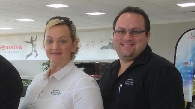 GKirsty and Andrew Thew in their Queensland One Homes uniforms.