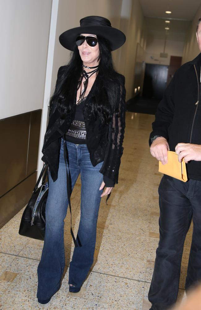 Cher strolls through Sydney. Picture: John Grainger