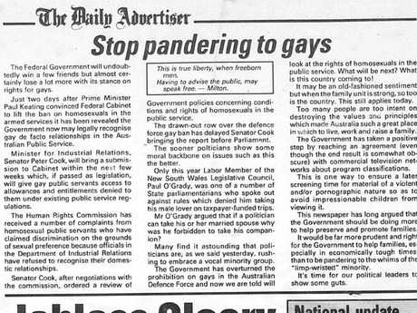 An editorial published in The Daily Advertiser when now Deputy Prime Minister of Australia Michael McCormack was editor.