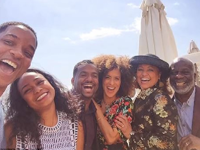 The Fresh Prince of Bel-Air cast reunite last year. Picture: Supplied