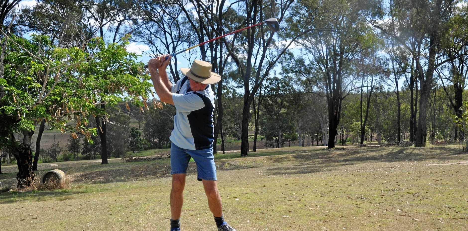 Andrew Milton at the Monto Golf Club.