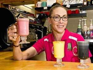 Cafe sells colourful charcoal, beetroot, turmeric lattes